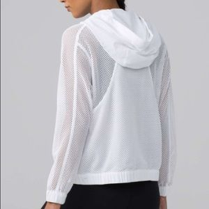 Lululemon Mesh on Mesh Jacket White 8